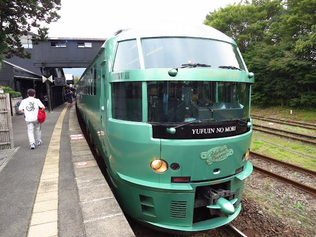 Yufuin no Mori scenic express train. Kyushu Hakata Fukuoka. Tokyo Consult. TokyoConsult.