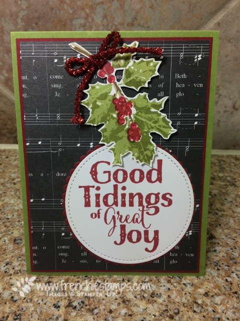 Good Tidings, Stampin'Up!, christmas card class online
