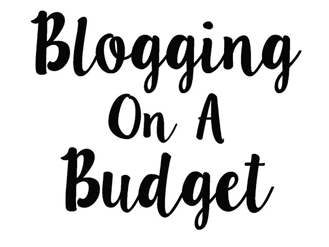 "black text on a white background reading ""blogging on a budget"""