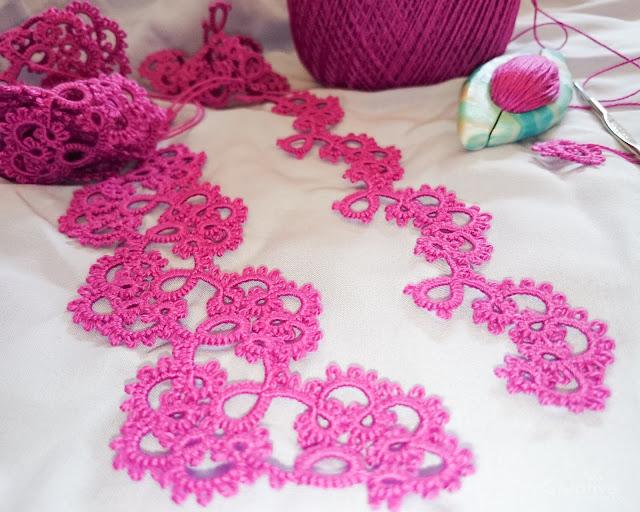 Пурпурное кружево ручной работы