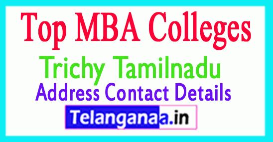 Top MBA Colleges in Trichy Tamilnadu