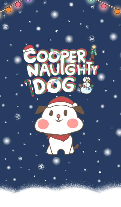 Cooper naughty dog (Christmas Theme)