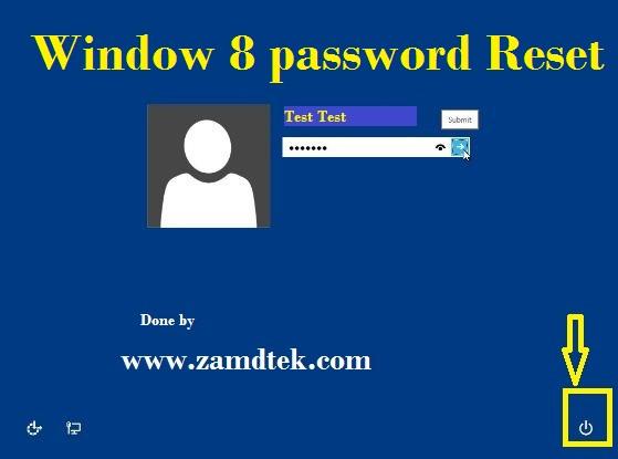 Window 8 password reset trick