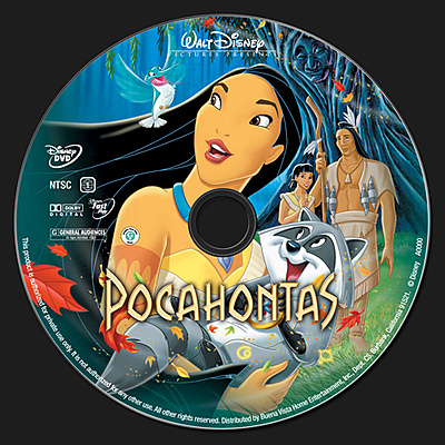 DVD Pocahontas 1995 animatedfilmreviews.filminspector.com