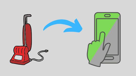 Mietn maksat kotisiivouksen helposti älypuhelimella?