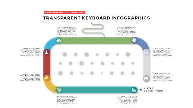 Free PowerPoint Design Elements with Transparent Keyboard Infographics Slide 6