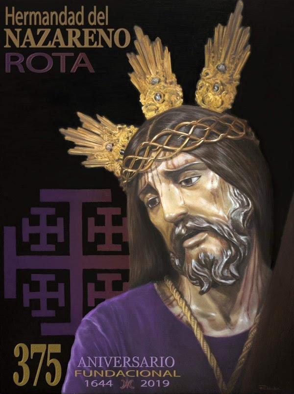 Cartel conmemorativo 375 Aniversario Fundacional del Nazareno de Rota