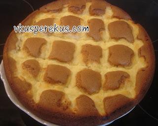 ореховый пирог с творожным кремом