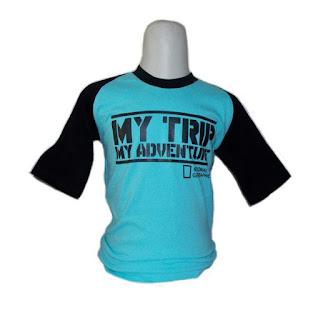 Kaos Raglan Anak My Trip My Adventure (MTMA) Biru