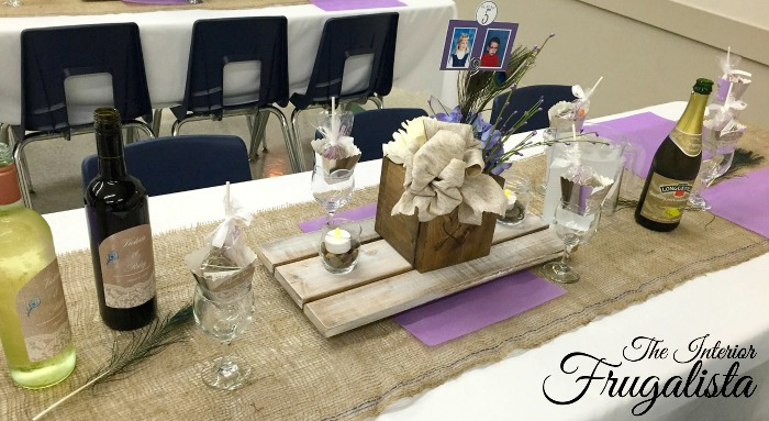DIY Rustic Wedding Centerpiece Trivets and handmade boxes add WOW factor inexpensively to each guest table.