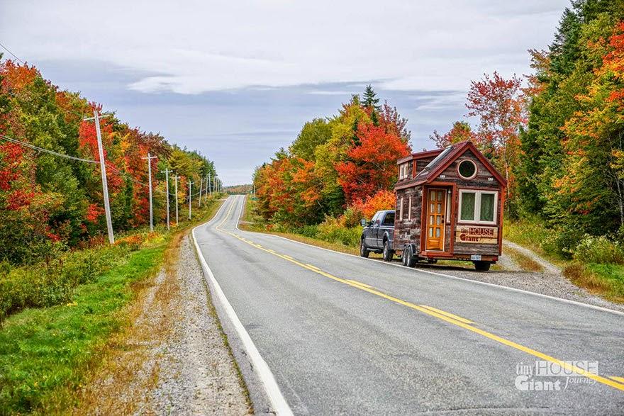 Casa o cabaña rodante la carretera