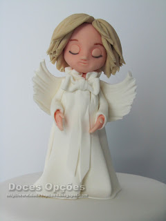 anjo pasta açucar bolos decorados