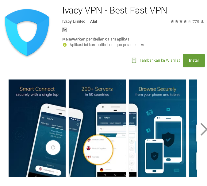 Review dan Menggunakan Ivacy VPN di android - Kumpulan Remaja
