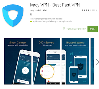 ivacy VPN di android