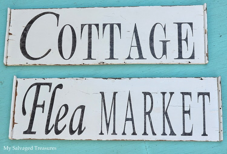 rustic cottage and flea market signs