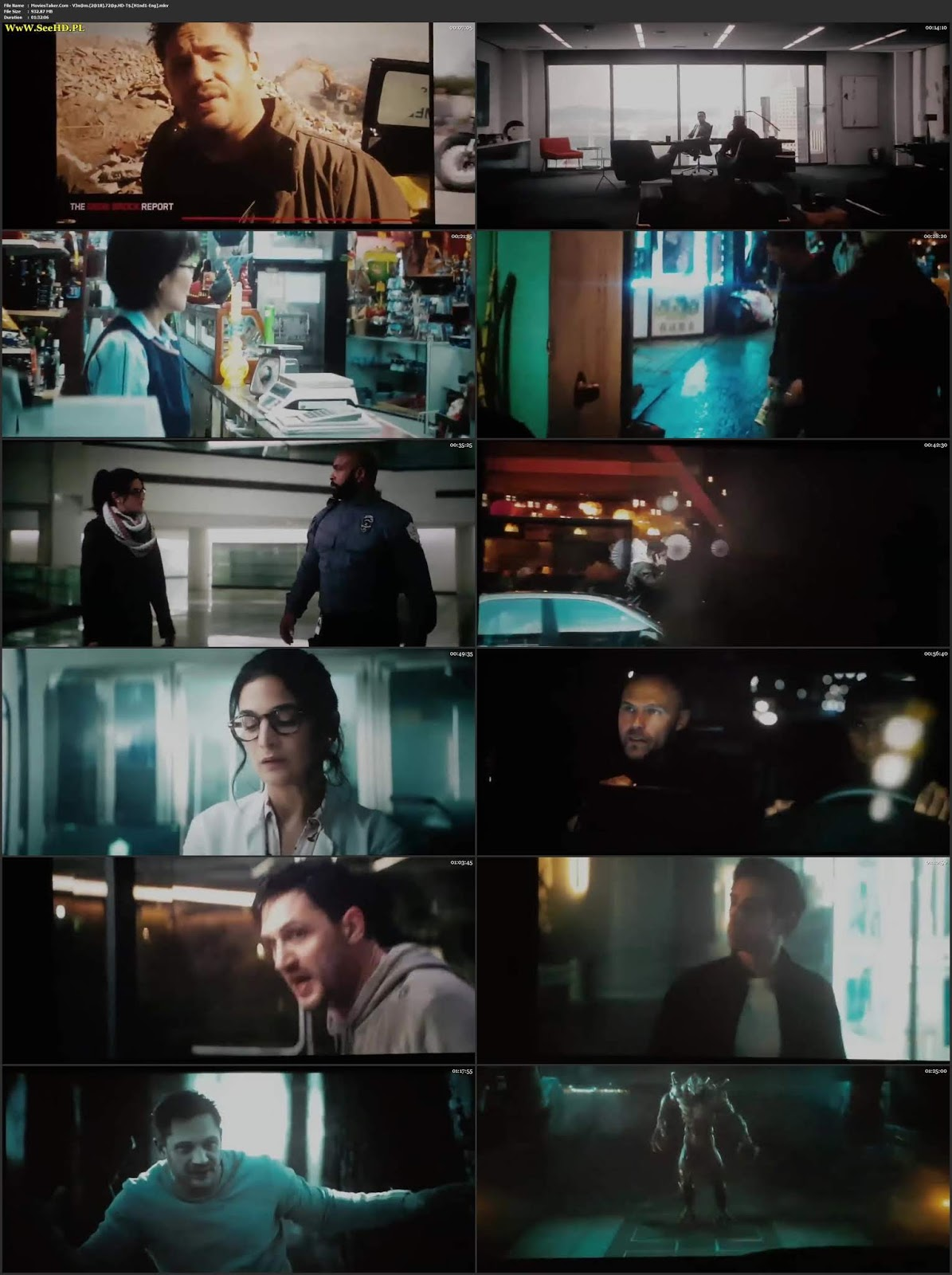 Venom 2018 Hindi 300MB Movie ENG HDTS 480p