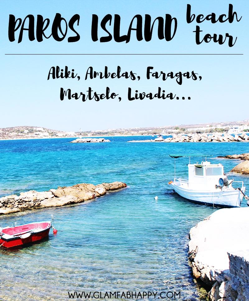 Paros island beaches exploring tour: Aliki Piso Aliki Faragas Ambelas Livadia Martselo Santa Maria