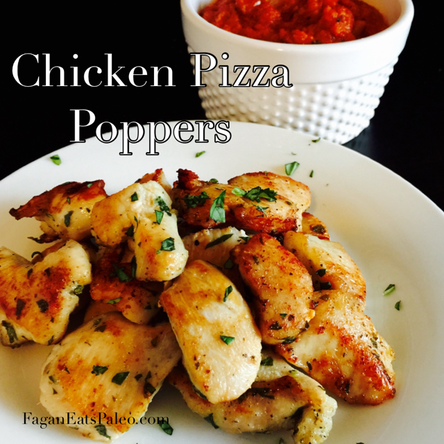 Paleo Chicken Pizza Poppers