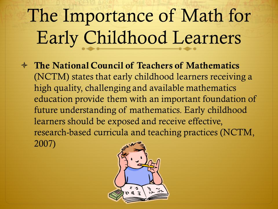 The Importance of Math for Early Childhood Learners