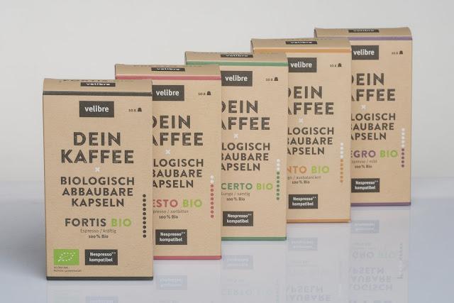 velibre Kaffee - biologisch abbaubare Kapseln und Bio-Qualität