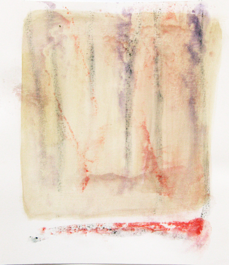 abstract contemporary accent minimal watercolor painting series