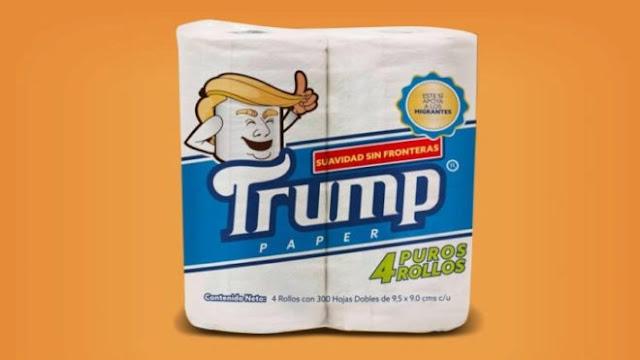 Fabrican papel de baño'Trump'; ¡suavidad sin fronteras'!