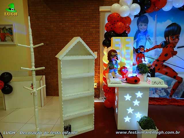 Decoração tema Miraculous Ladybug - Mesa decorada para festa infantil