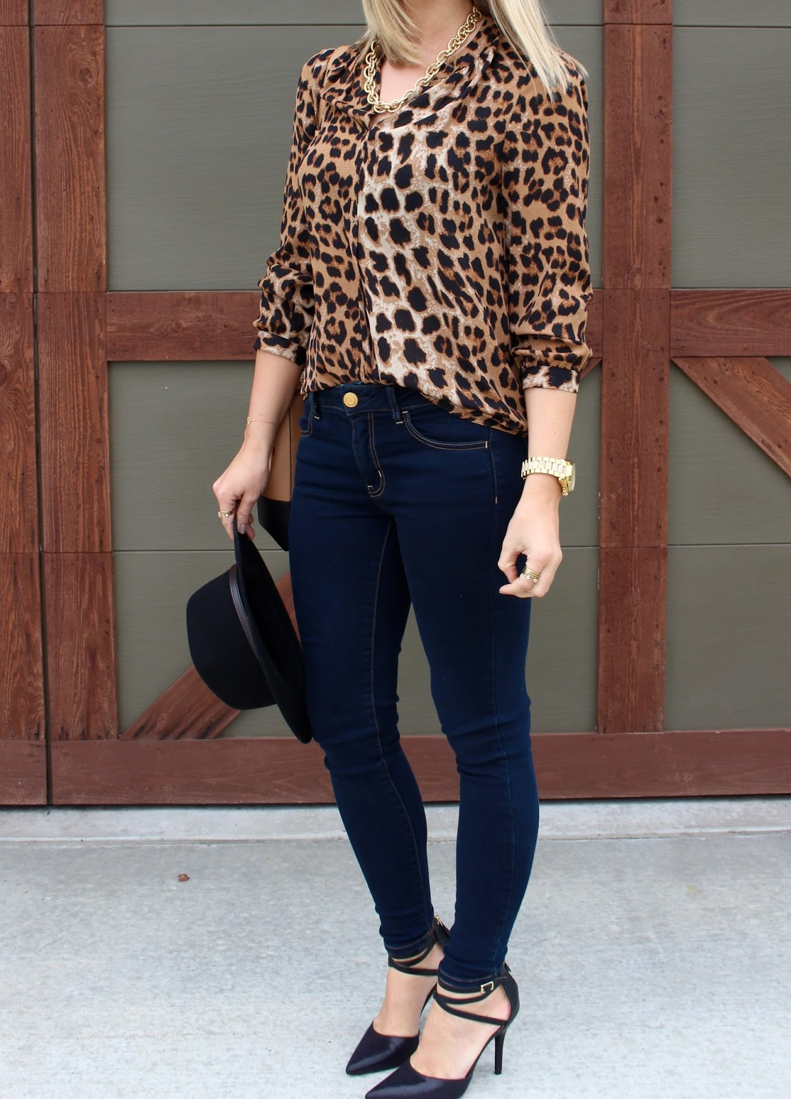 6253fbba0ef The Blue Diamond  Leopard Print Top