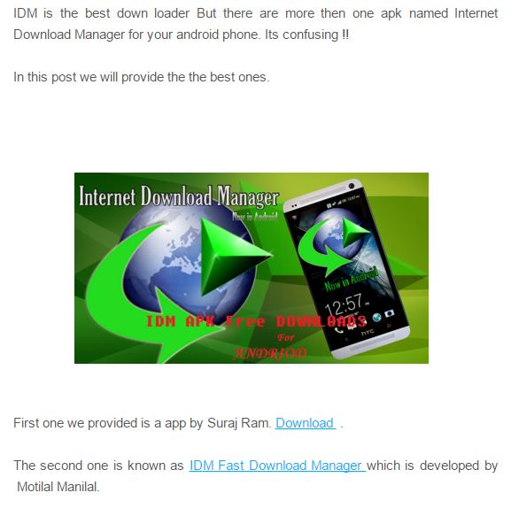 Free Downlaod Internet Download Manager APK For Android Full