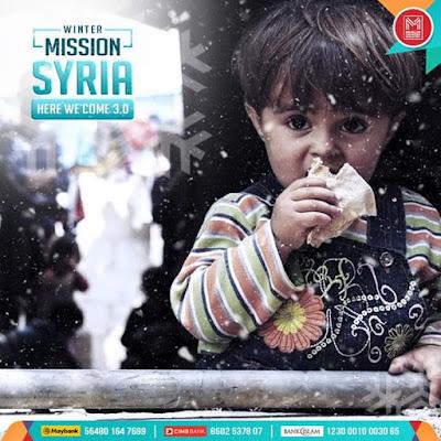 Jom Menyumbang Winter Misson Syria 3.0 di Muslim Volunteer Malaysia