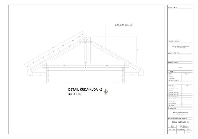 Detail Kuda-Kuda Type K5 Rumah Lantai 1