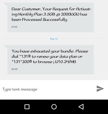 mtn 3.5gb data scam