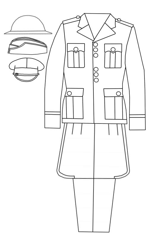PanzerKaput's Painted Review: Service Dress Uniform Outline
