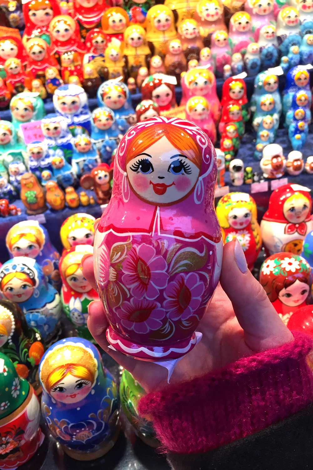 Russian dolls at the Cologne Christmas market - UK travel & lifestyle blog