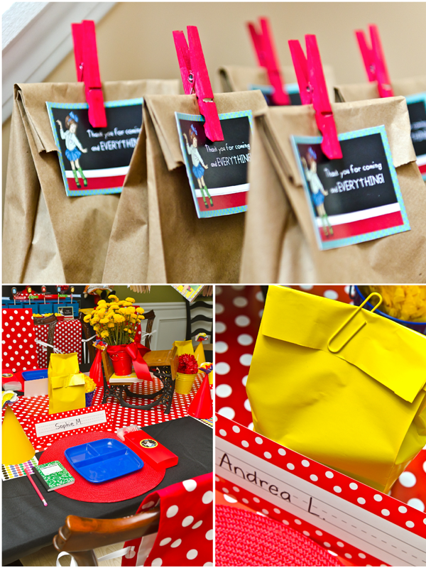 Back to School | Junie B. Jones Inspired Party - via BirdsParty.com