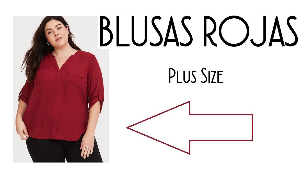 AsEstilo  Consejos de moda para gorditas - La blusa roja 9cf76864d5d