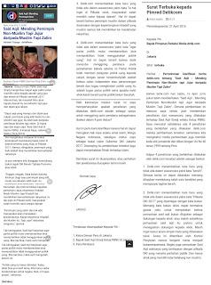 Karib Sahabat Indonesia Berubah Surat Terbuka kepada Pimred Detikcom