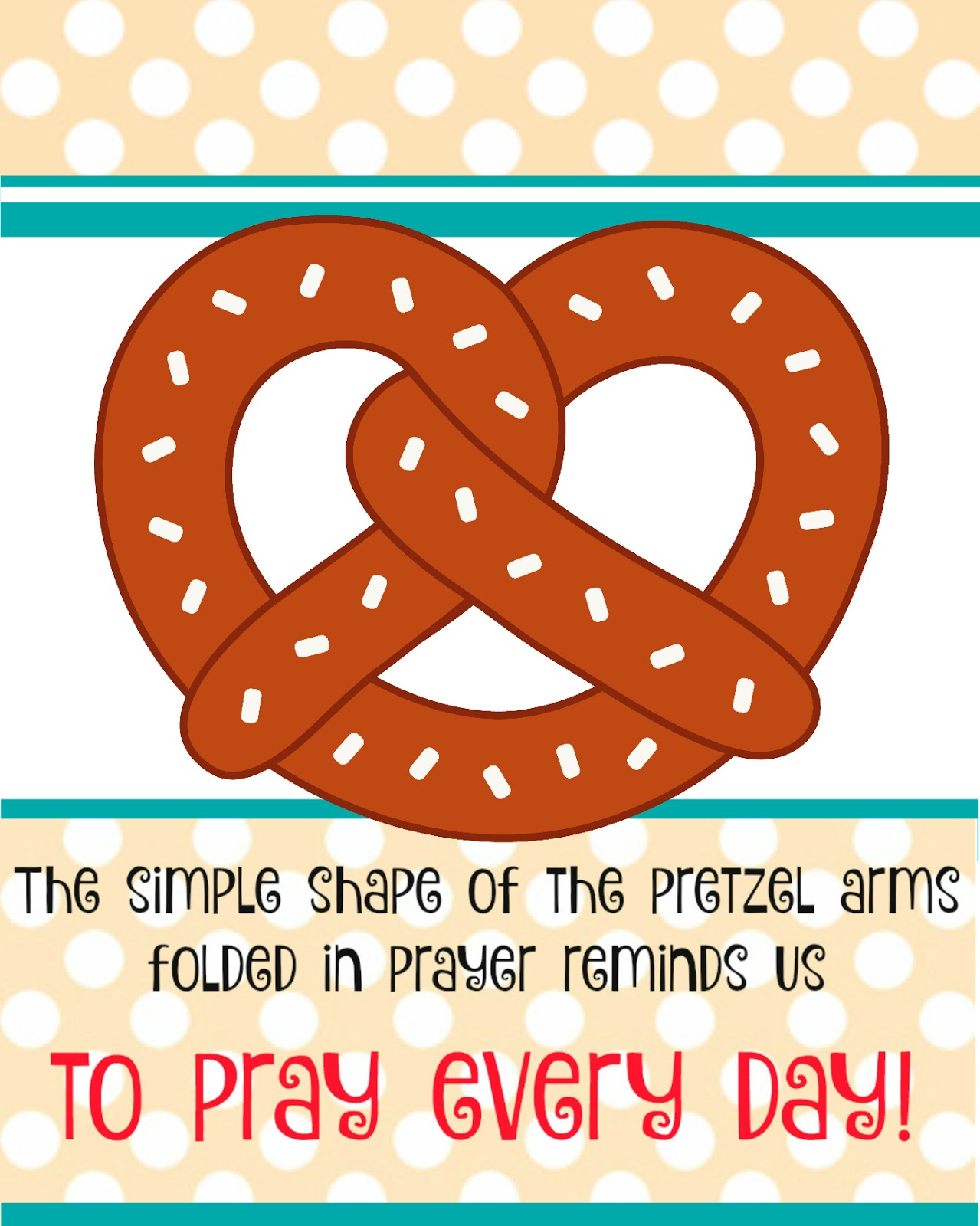 Pretzels And Prayer Activity on Who Am I Printable Worksheets