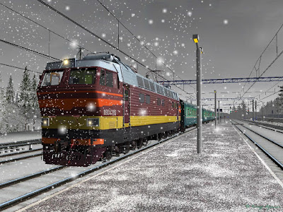 Train Journey in Winter