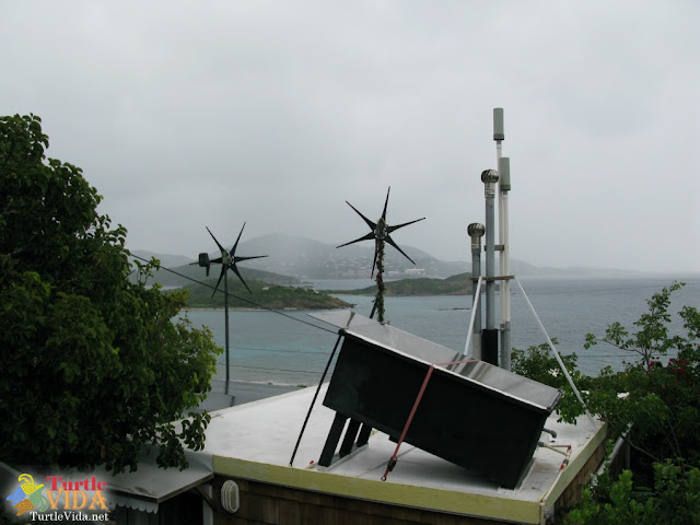 Windmills and solar panels are what power all facilities at the Virgin Islands Campground