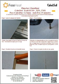 Plancher Chauffant Caleosol Tradi - Pose CaleoDur