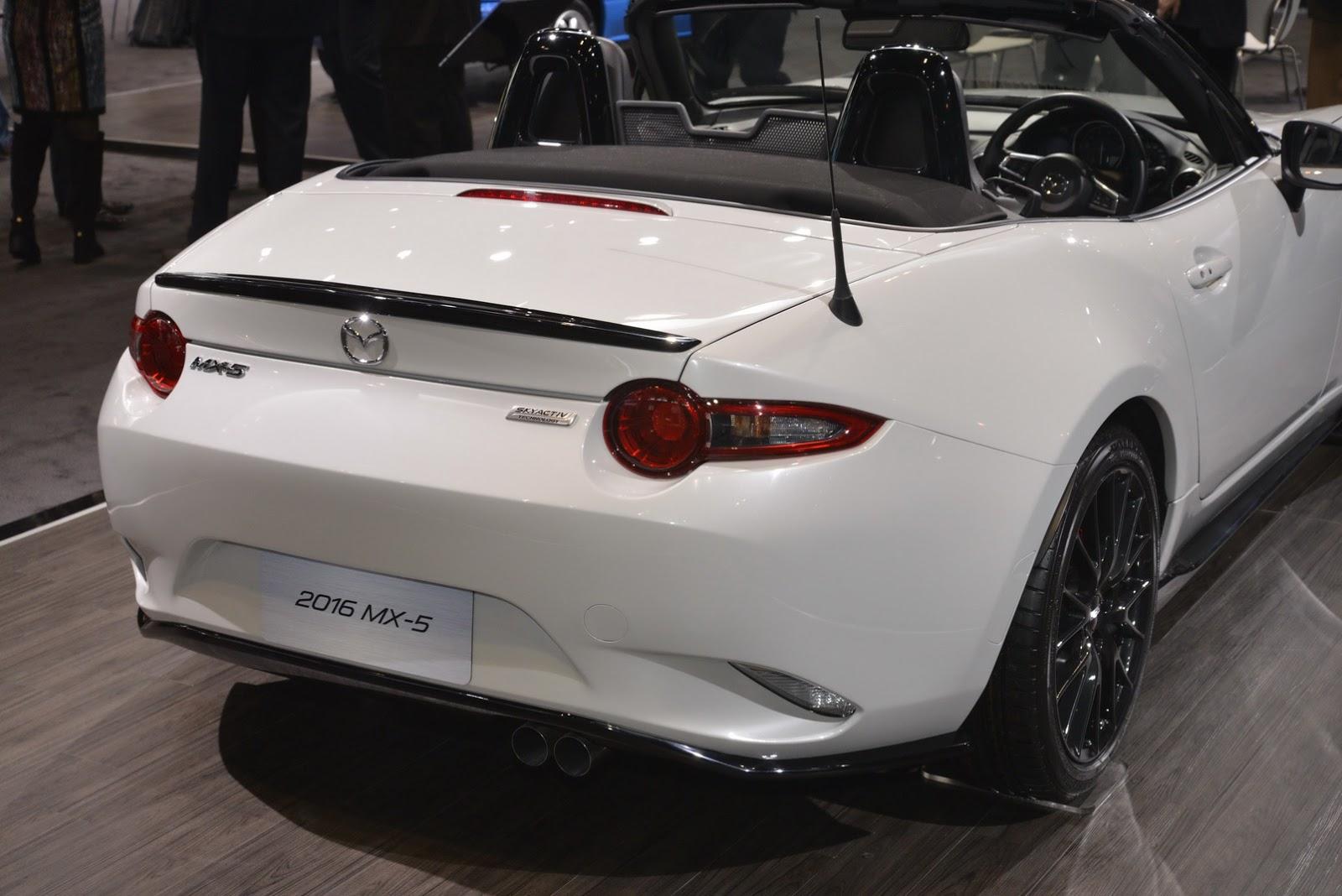 """Acura Rdx Accessories >> Mazda To Debut More """"Aggressive"""" 2016 MX-5 Club Edition In ..."""