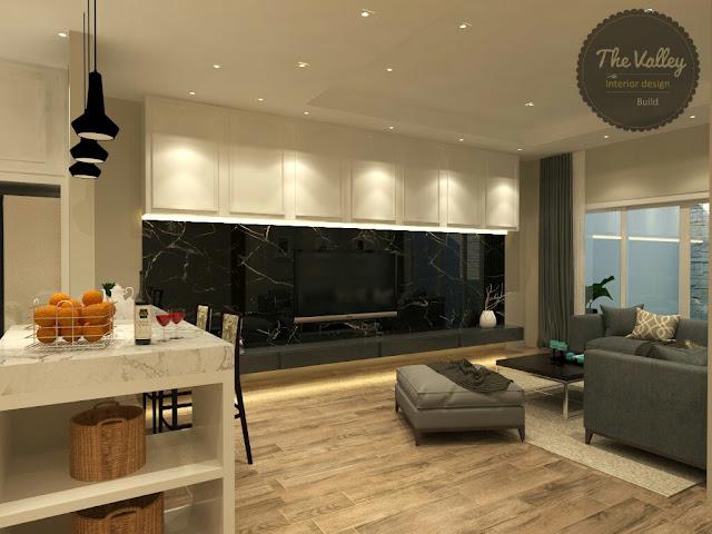 Desain Interior Ruang Keluarga Rumah Mewah - The Valley Interior Design