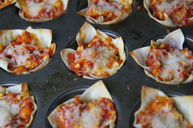 This simple and elegant lasagna cup recipe uses pre-made frozen lasagna to create a fast appetizer or meal for guests. It's perfect for the holidays!