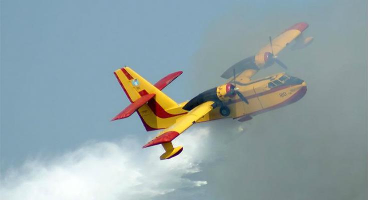 Κατέπεσε πυροσβεστικό αεροσκάφος Καναντέρ στη Βοιωτία