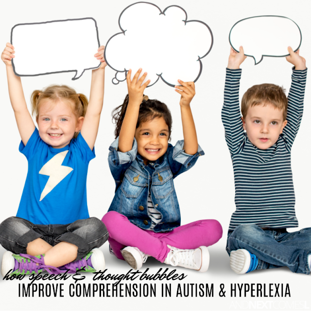 Reading comprehension strategies for hyperlexia
