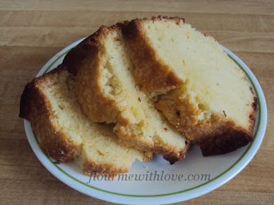 Cream cheese mixed with butter, sugar, eggs, flour & vanilla baked into a delicious & dense pound cake!