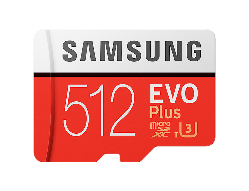 Samsung EVO Plus 512GB microSD card with adapter, now up on their Germany website