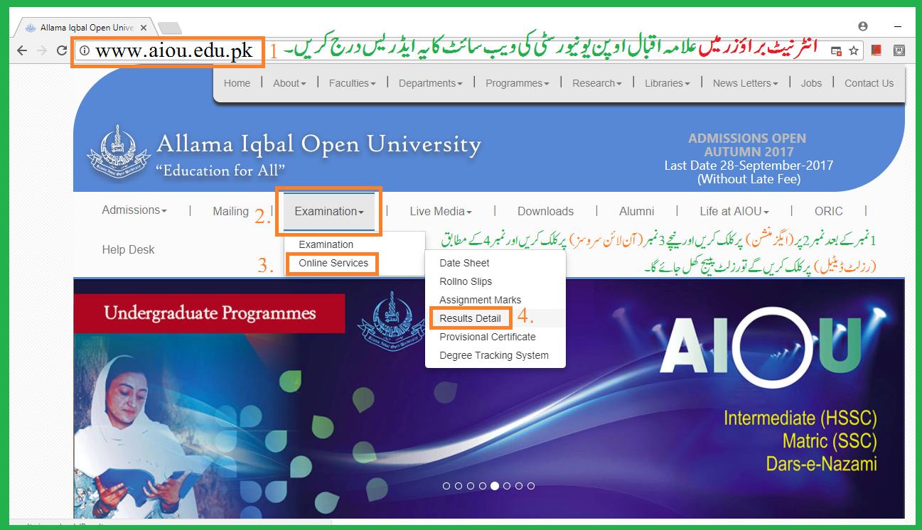 Allama Iqbal Open University Islamabad - aiou pk: Allama Iqbal Open