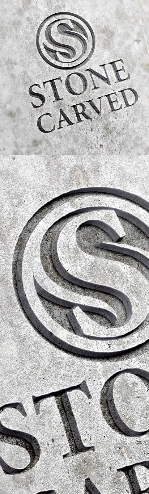 Download Free Mockup PSD 2018 - Free Carved Stone Logo Mockup PSD